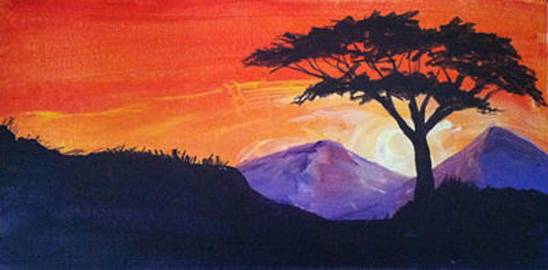 Painting - Twin Peaks At Dusk by Richard Fritz