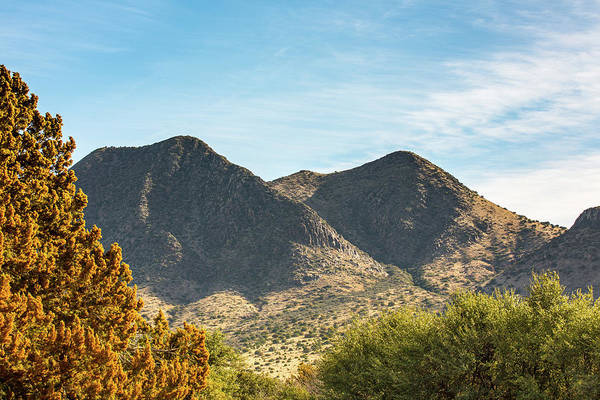 Photograph - Twin Peaks In Autumn by SR Green