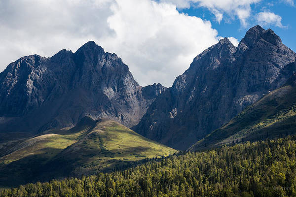 Photograph - Twin Peaks In Mid-summer by Tim Newton
