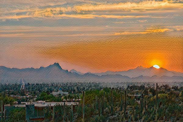 Photograph - Twin Peaks Sunset Remix by Dan McManus