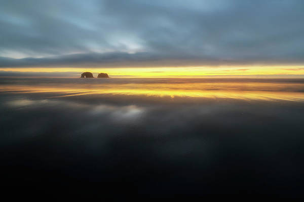 Sliver Photograph - Twin Rocks Sunset Sliver by Ryan Manuel