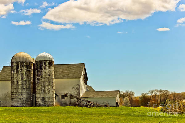 Timeworn Photograph - Twin Silos by Colleen Kammerer