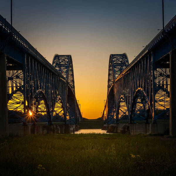 Photograph - Twin Span Twilight by Chris Bordeleau