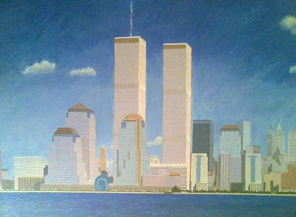 Acrilic Painting - Twin Towers by Pedro Domingo