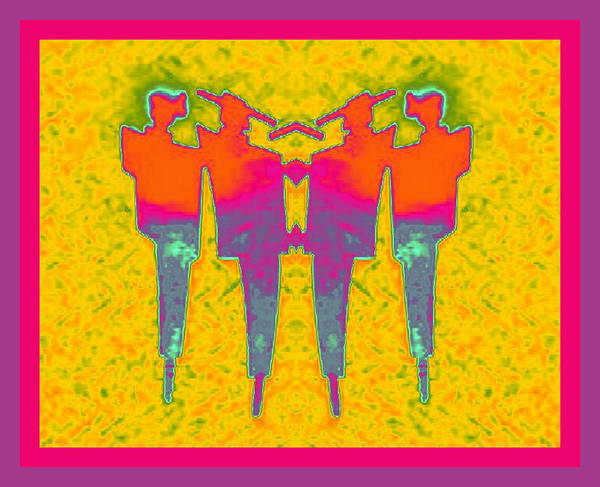 Digital Art - Twins by Mary Russell
