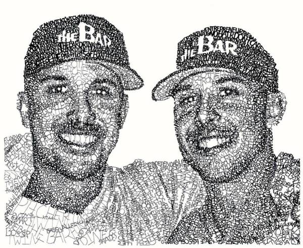 Bar Drawing - Twins by Michael Volpicelli