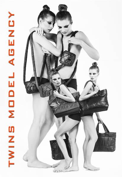 Twins Model Agency Art Print