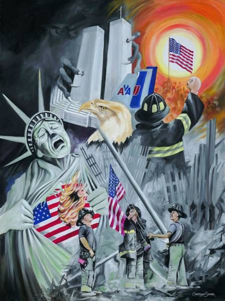911 Painting - Twin Towers 911 New York by Christiaan Bekker