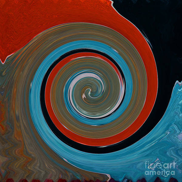 Twirl Painting - Twirl Red 01 by Gull G