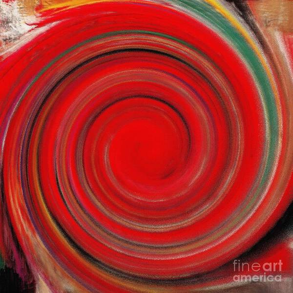 Twirl Painting - Twirl Red-0951 by Gull G