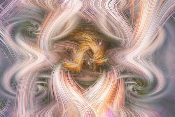 Digital Art - Twirling Air Currents 108 by Mary Almond