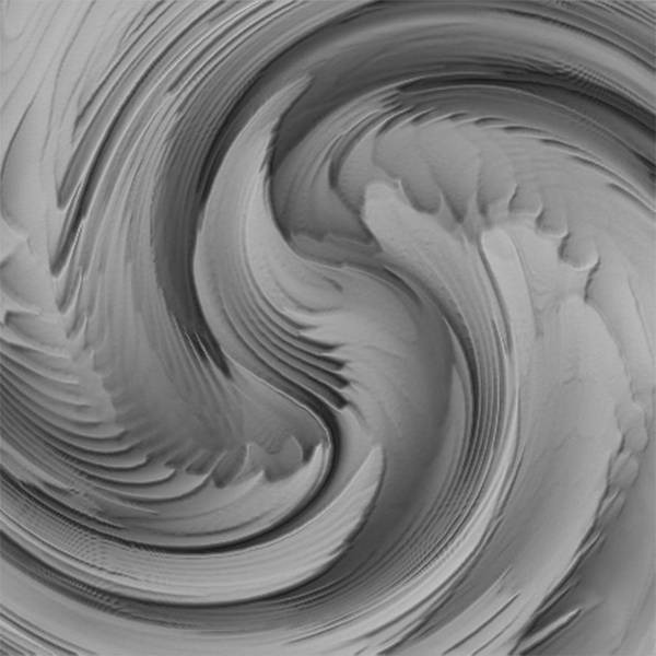 Spin Painting - Twisted-black And White by Jack Zulli