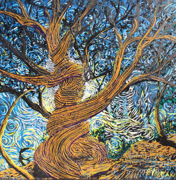 Painting - Twisted By Life's Storms by Stefan Duncan