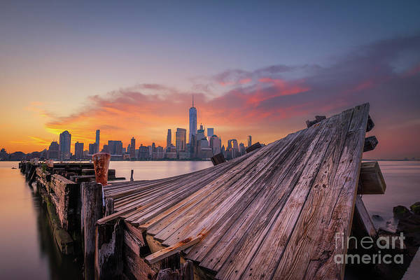 Lower Manhattan Photograph - Twisted Pier Manhattan Sunrise  by Michael Ver Sprill