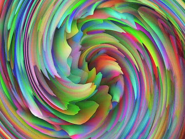Spin Painting - Twisted Rainbow 2 by Jack Zulli