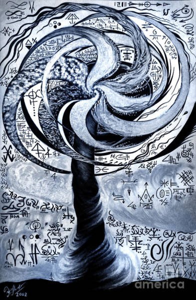 Parallel World Painting - Twisted Time. Tornado Of Parallel Worlds by Sofia Metal Queen