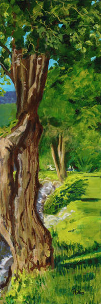Okanagan Valley Painting - Twisted Tree by Peggie Collins