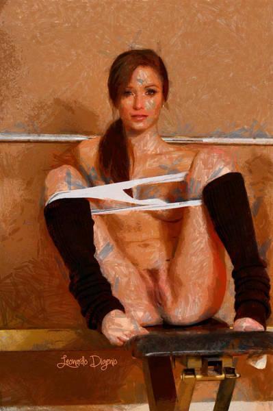 Xxx Painting - Twisty Girl by Leonardo Digenio