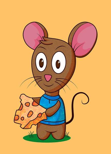 Digital Art - Twitch The Mouse by Ruth Moratz