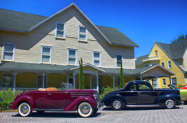 Photograph - Two Antique Fords by Carlos Diaz
