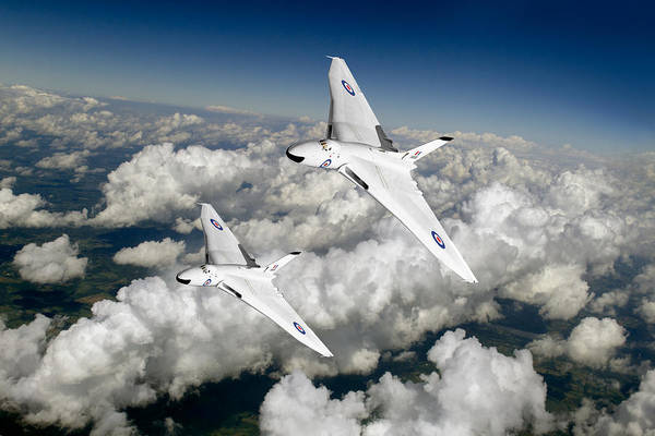 Photograph - Two Avro Vulcan B1 Nuclear Bombers by Gary Eason