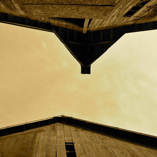 Photograph - Two Barns In Sepia by JD Grimes