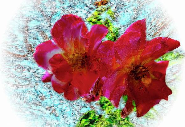 Digital Art - Two Beautiful Red Flowers by Rusty R Smith