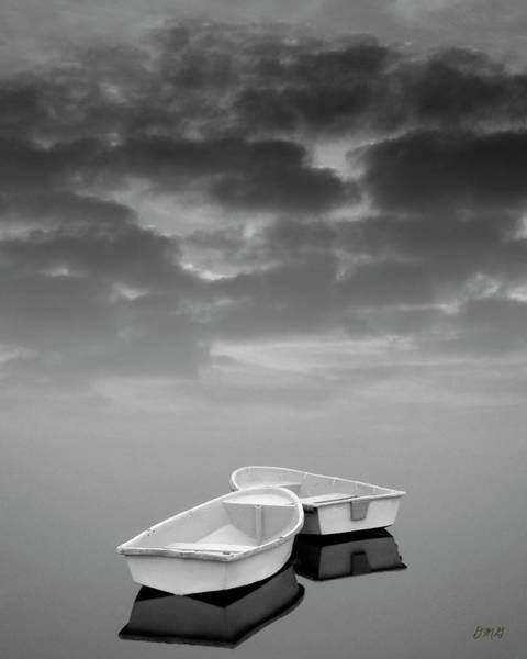 Photograph - Two Boats And Clouds by Dave Gordon