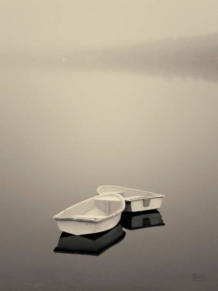 Photograph - Two Boats And Fog Toned by David Gordon
