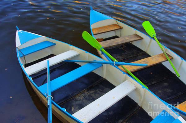 Oar Photograph - Two Boats by Carlos Caetano