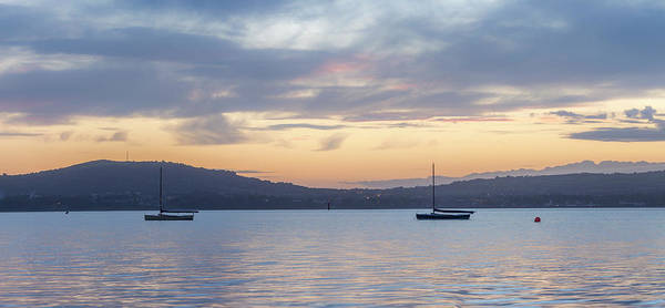 Wall Art - Photograph - Two Boats In Blue Holywood by Glen Sumner