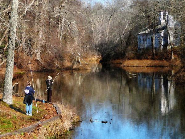 Photograph - Two Boys Fishing by Susan Savad