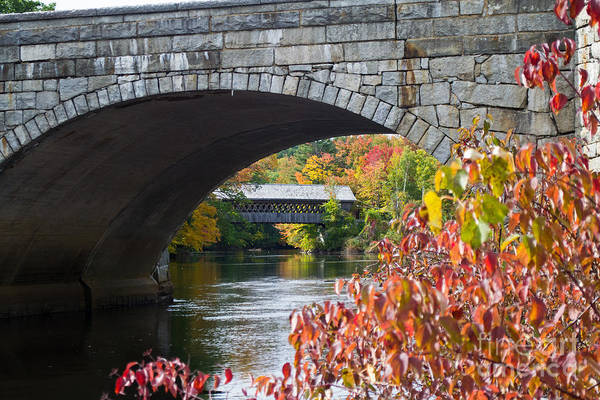 Henniker Wall Art - Photograph - Two Bridges by Kevin Fortier