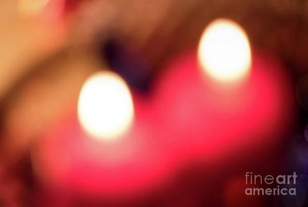 Photograph - Two Candles Abstract by Marina Usmanskaya