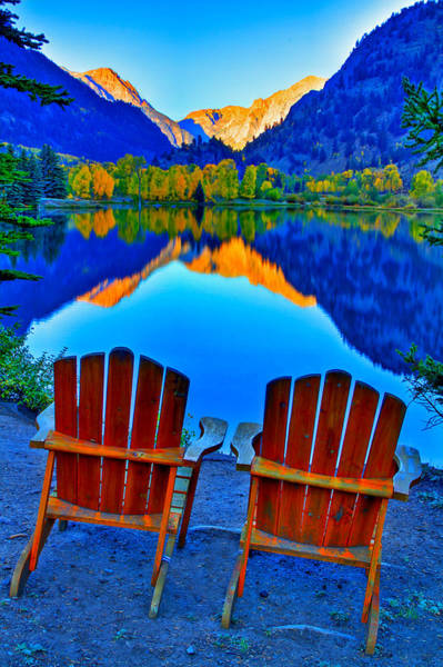 Wall Art - Photograph - Two Chairs In Paradise by Scott Mahon