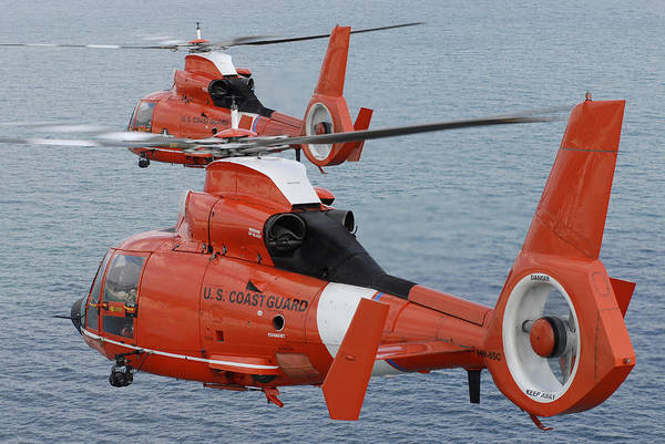 Photograph - Two Coast Guard Hh-65c Dolphin by Stocktrek Images