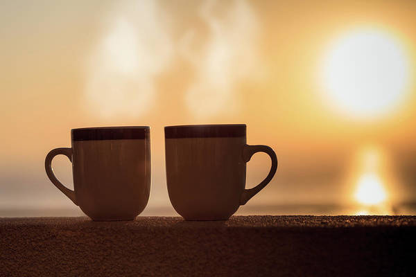 Photograph - Two Coffees At Sunrise by Kyle Lee