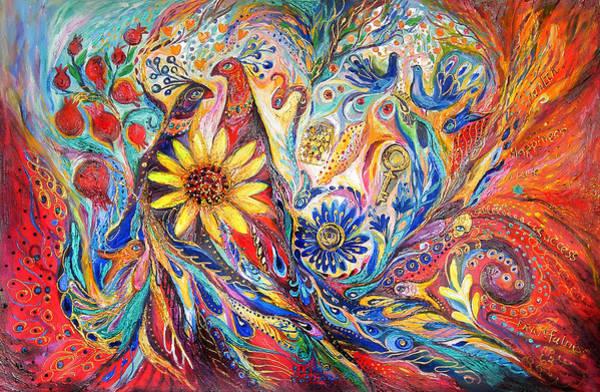 Kaballah Wall Art - Painting - Two Couples II by Elena Kotliarker