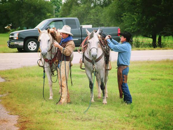 Wall Art - Photograph - Two Cowboys by Toni Hopper