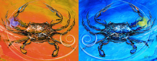 Painting - Two Crab Abstract by J Vincent Scarpace