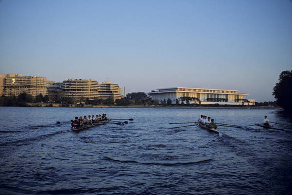 Potomac River Photograph - Two Crew Teams Row Side By Side by Kenneth Garrett