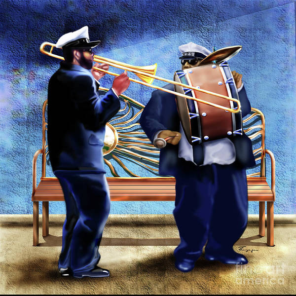 Painting - Two Da Jazz Way by Reggie Duffie