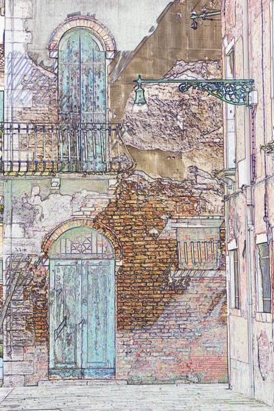 Wall Art - Drawing - Two Doors In Venice by Michael Henderson
