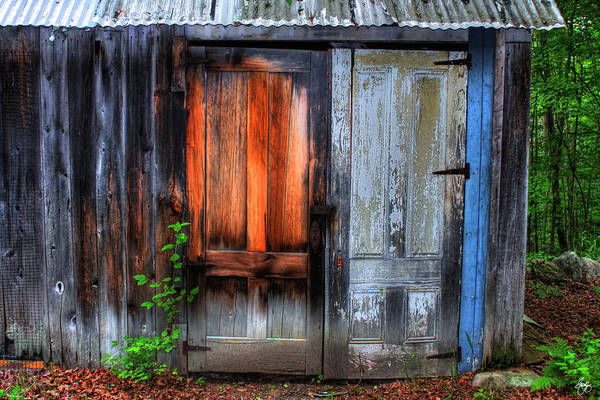 Photograph - Two Doors On A Woodshed by Wayne King