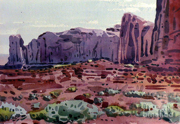 Butte Painting - Two Elephants Butte by Donald Maier