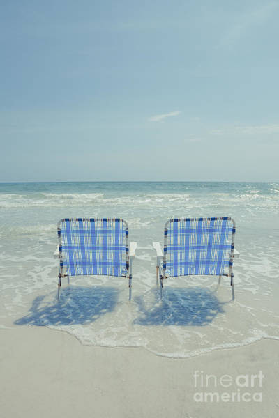 Wall Art - Photograph - Two Empty Beach Chairs by Edward Fielding