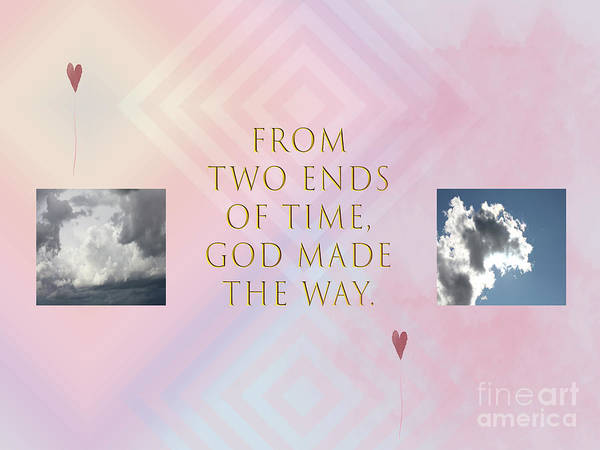 Digital Art - Two Ends Of Time by Donna L Munro