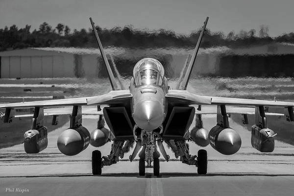 Photograph - Two F18 Growlers Taxiing by Philip Rispin