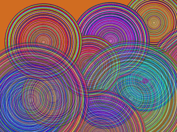Blending Painting - Two Families Join In Circles Of Harmony 1 by Tony Rubino