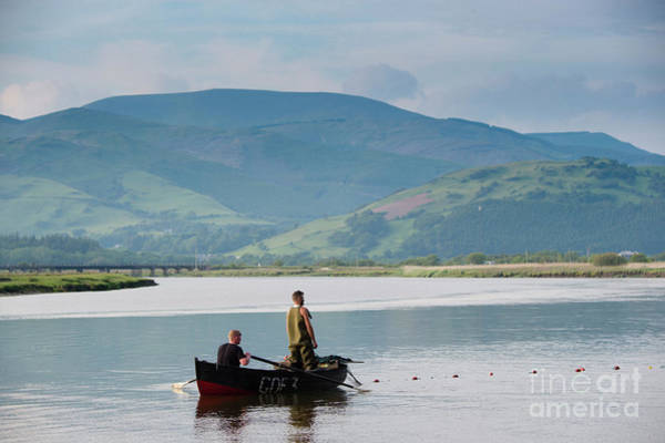 Photograph - Two Fishermen Sein Netting On The River Dyfi by Keith Morris